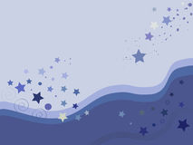 Star. Blue Star on magenta background Royalty Free Stock Image