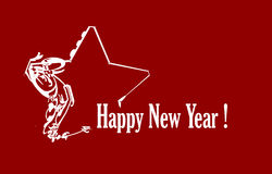 Star. New year star with red background Stock Image
