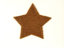 Star. Beaded gold star Stock Images