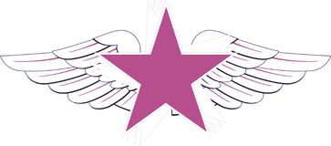 Star. Purple star with wings - ilustarce Stock Images