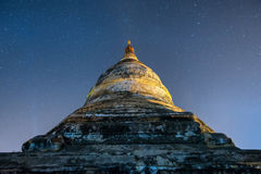 Star above ancient pagoda royalty free stock image