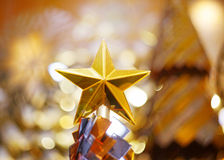 Star above a christmas tree Royalty Free Stock Images