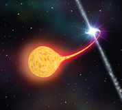 Star absorption by a black hole Stock Photos