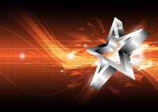 Star abstract background design Royalty Free Stock Photos
