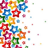 Star abstract background design Stock Photo