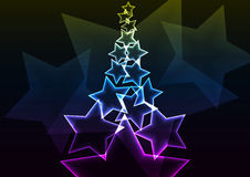 Star abstract background Royalty Free Stock Images