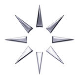 Star Abstract Design. In chrome on a white background royalty free illustration