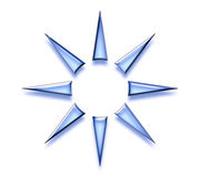 Star Abstract Design. In glowing blue on a white background vector illustration