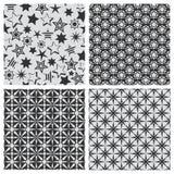 Star abstract seamless pattern texture set Stock Photos