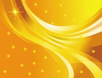 Star abstraction on a yellow background Stock Images