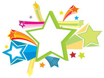 Star (with ai file). Fun, sensation, colorful and happening star Royalty Free Stock Photos