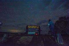 Star alla notte sopra l'albero, Doi Samer-Dao Fotografia Stock Libera da Diritti