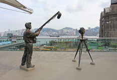 Star Alley Hong Kong with view to Victory Harbour Stock Photography