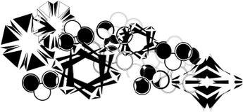 Star-alliance. Modern astro geometric cut out stencil  design Royalty Free Stock Photo