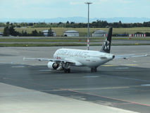 Star Alliance Airbus A320 on the runway Stock Images