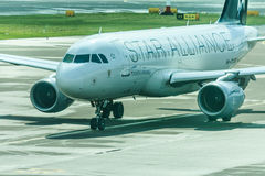 Star Alliance jet Stock Photo