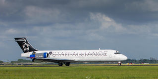 Star alliance. Landing on Schiphol Airport Royalty Free Stock Image