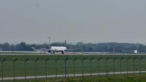 Star Alliance Lufthansa que saca del aeropuerto de Munich