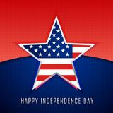 Star with american flag background Royalty Free Stock Photography