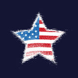 Star in American flag. Stock Photo