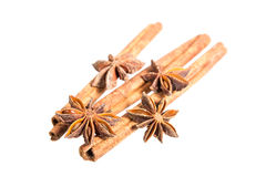 Star anice and cinnamon Royalty Free Stock Photography