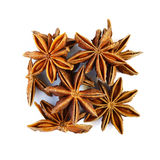 Star Anice in square composition. Cut out of Star Anice in square composition stock photos