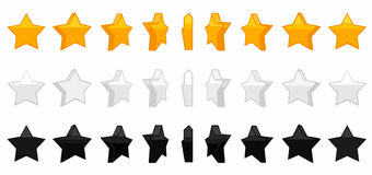 Star animation vector set illustration Stock Photography