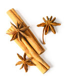 Star anis and cinnamon Stock Photography