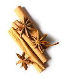 Star anis and cinnamon Royalty Free Stock Photography