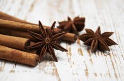 Star anis and cinnamon stick Royalty Free Stock Photos