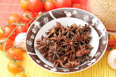 Star Anis. Some dried star anis in a bowl Stock Photos