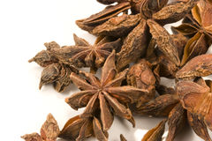 Star Anise. On white background.  is a spice that is widely used in Chinese and Indian cuisine Stock Photography