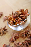 Star anise. Bowl of star anise, beautiful star shaped pod Stock Image