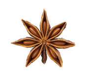 Star anise. Was placed on a white background Royalty Free Stock Photos