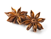 Star anise. Was placed on a white background Stock Photo