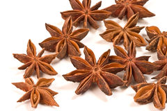 Star Anise. Seeds isolated on white background stock photography