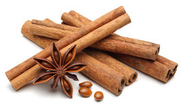 Free Star Anise And Cinnamon Royalty Free Stock Photos - 61560698