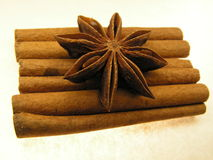 Free Star Anise And Cinnamon Stock Photo - 867920