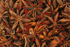 Star-Anise Background Stock Images