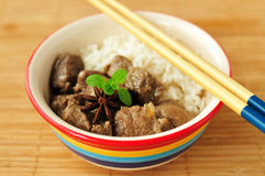 Star Anise Braised Pork with Rice Stock Photos