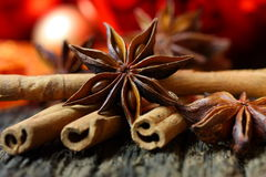 Star anise at christmas time Stock Images