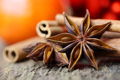 Star anise at christmas time Royalty Free Stock Photos