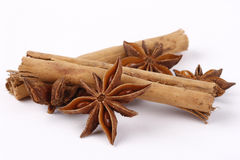 Star anise and cinnammon Royalty Free Stock Photography