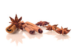 Star anise and cinnamon Stock Photography