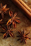Star anise and cinnamon stick Stock Photo