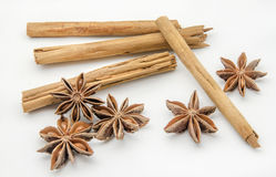 Star anise and cinnamon Stock Image