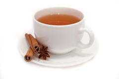 Star anise and cinnamon tea cup Stock Image