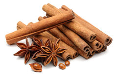 Star anise and cinnamon Royalty Free Stock Image