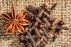 Star anise and cloves Royalty Free Stock Photography