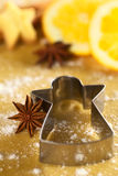 Star Anise with Cookie Cutter Royalty Free Stock Photography
